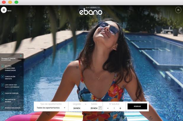 Banner Ebano diseño web