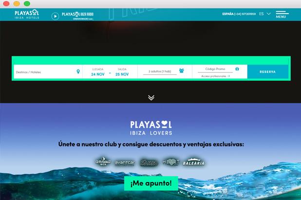 Club fidelización diseño web