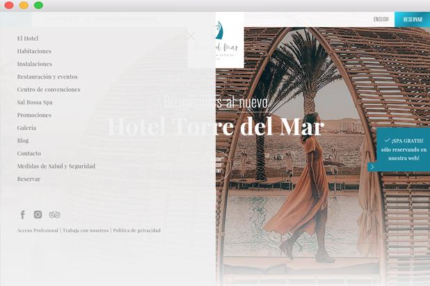 Menú Torre del Mar diseño web
