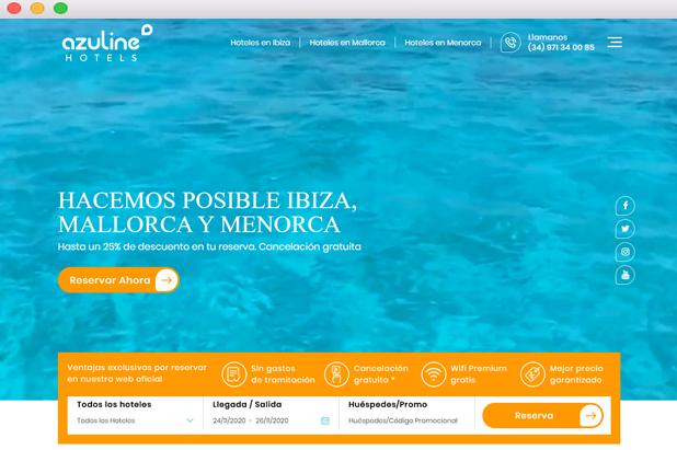 Botón Reservar diseño web