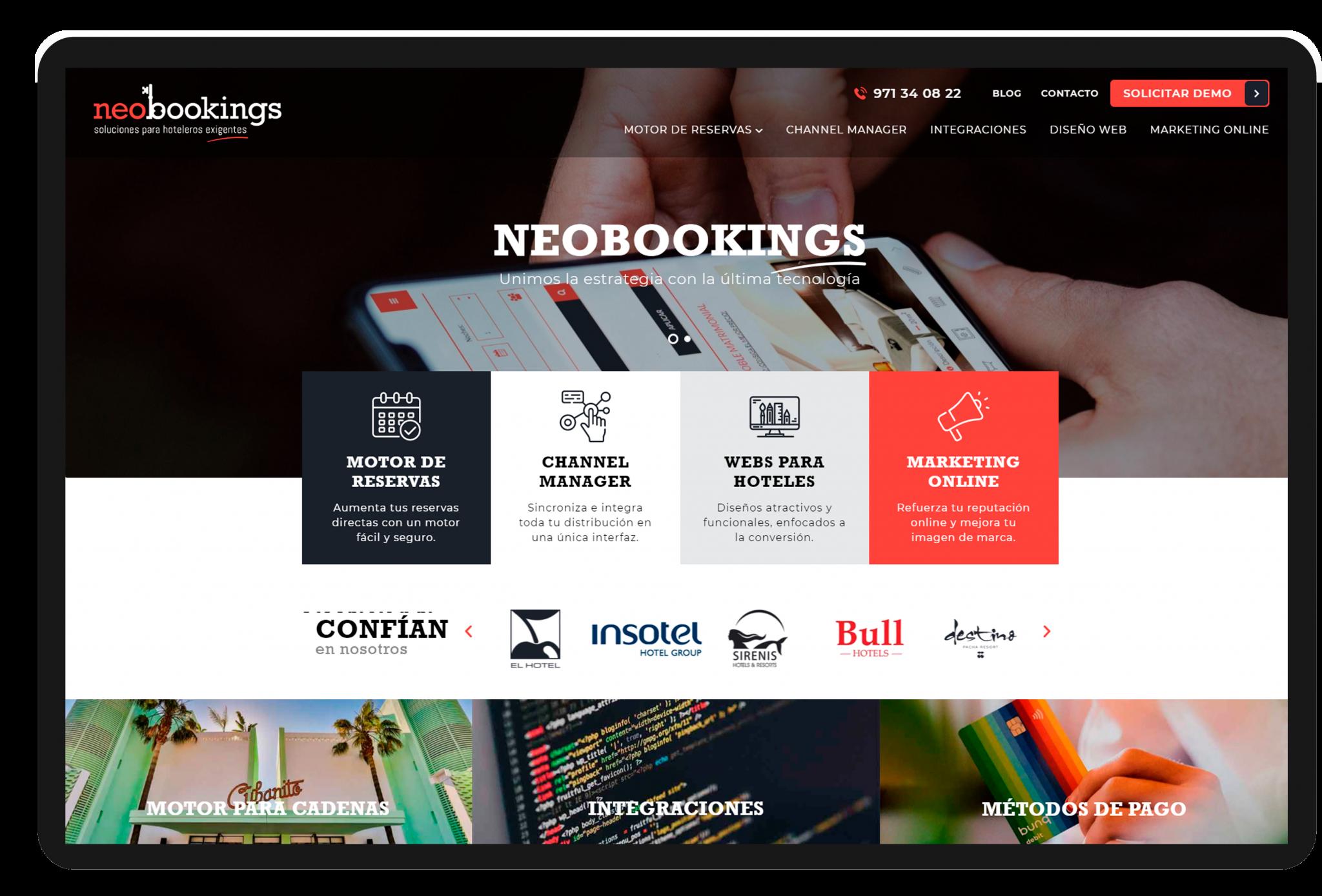 resumen año Neobookings, web