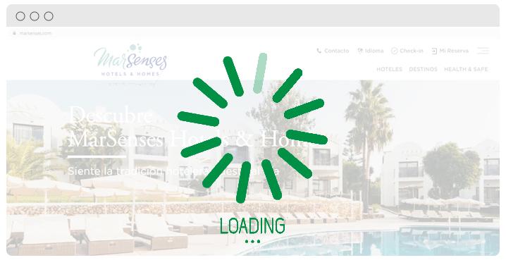SEO para hoteles carga web