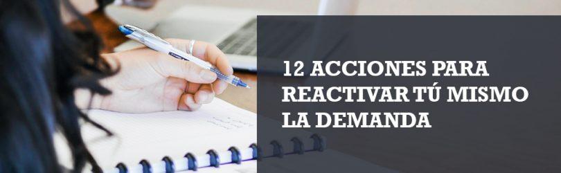 Reactiva la demanda con acciones de marketing