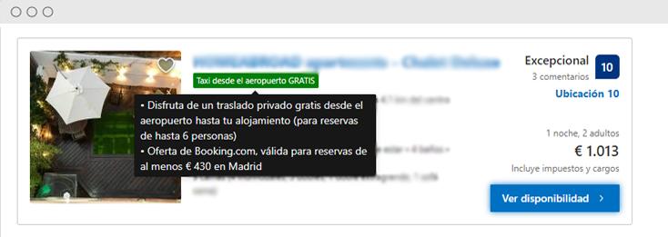 Booking.com oferta taxi